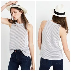 Madewell Gray Openstitch Sweater Tank